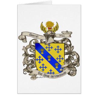 Escudo de armas de Juan Bancroft de Lynn, mA 1632 Tarjeta De Felicitación