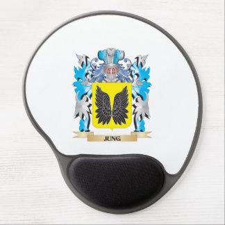 Escudo de armas de Jung - escudo de la familia Alfombrillas Con Gel
