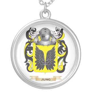 Escudo de armas de Jung (escudo de la familia) Colgante Redondo