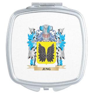 Escudo de armas de Jung - escudo de la familia Espejo De Viaje