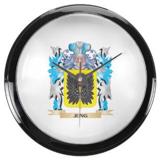 Escudo de armas de Jung - escudo de la familia Relojes Acuario