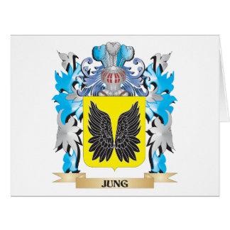Escudo de armas de Jung - escudo de la familia Tarjeta De Felicitación Grande