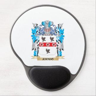 Escudo de armas de Jurado - escudo de la familia Alfombrillas De Raton Con Gel