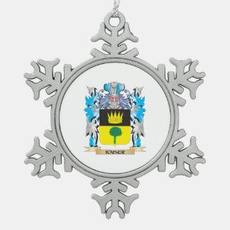 Escudo de armas de Kaiser - escudo de la familia Adorno De Peltre En Forma De Copo De Nieve