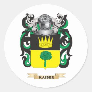 Escudo de armas de Kaiser (escudo de la familia) Pegatina Redonda