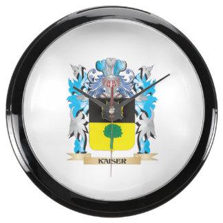 Escudo de armas de Kaiser - escudo de la familia Reloj Acuario