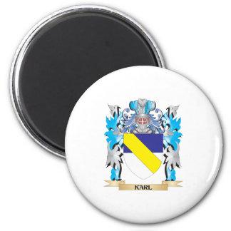 Escudo de armas de Karl - escudo de la familia Imán Para Frigorifico