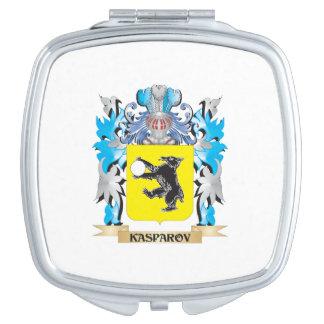 Escudo de armas de Kasparov - escudo de la familia Espejo Compacto