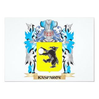 Escudo de armas de Kasparov - escudo de la familia Invitación 12,7 X 17,8 Cm