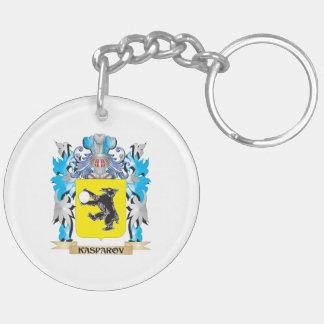 Escudo de armas de Kasparov - escudo de la familia Llavero Redondo Acrílico A Doble Cara
