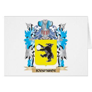 Escudo de armas de Kasparov - escudo de la familia Tarjeta Pequeña