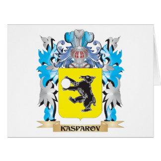 Escudo de armas de Kasparov - escudo de la familia Tarjeta De Felicitación Grande