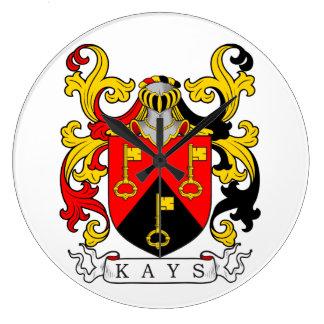 Escudo de armas de Kays Reloj De Pared