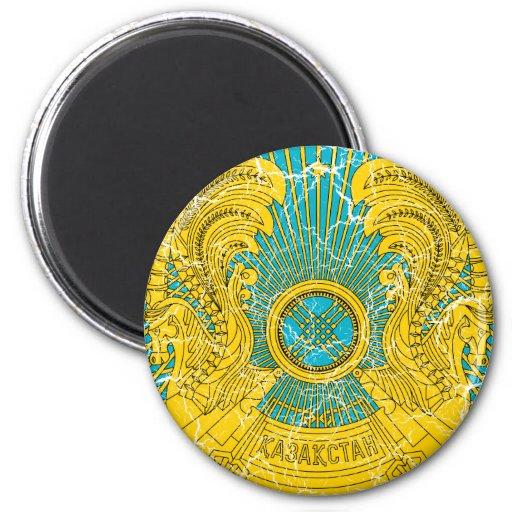 Escudo de armas de Kazajistán Imán Redondo 5 Cm