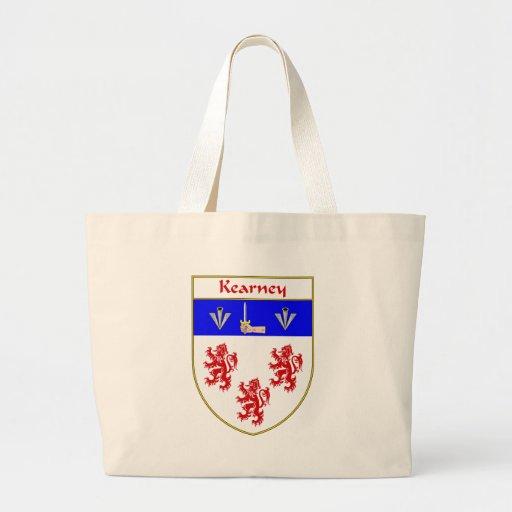 Escudo de armas de Kearney/escudo de la familia Bolsas Lienzo