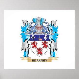Escudo de armas de Kearney - escudo de la familia Poster