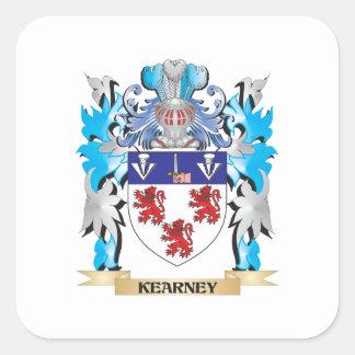 Escudo de armas de Kearney - escudo de la familia Calcomania Cuadradas Personalizadas