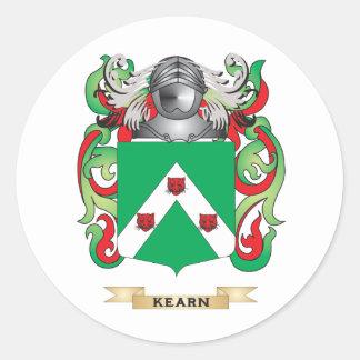Escudo de armas de Kearney (escudo de la familia) Etiquetas Redondas