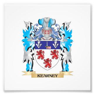 Escudo de armas de Kearney - escudo de la familia Impresión Fotográfica