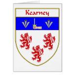 Escudo de armas de Kearney/escudo de la familia Tarjetón