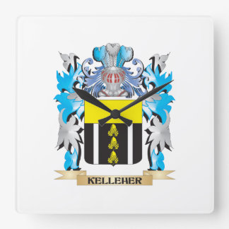 Escudo de armas de Kelleher - escudo de la familia Reloj Cuadrado