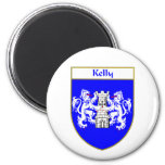 Escudo de armas de Kelly/escudo de la familia Imán De Frigorifico