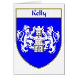 Escudo de armas de Kelly/escudo de la familia Felicitacion