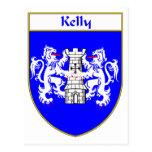 Escudo de armas de Kelly/escudo de la familia Postal