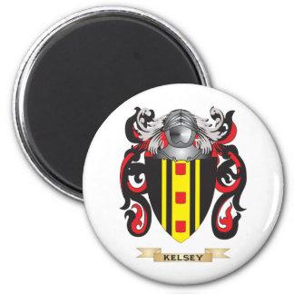 Escudo de armas de Kelsey (escudo de la familia) Imán Redondo 5 Cm