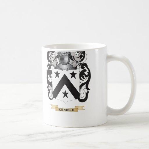 Escudo de armas de Kemble (escudo de la familia) Taza Básica Blanca
