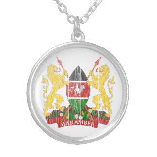 Escudo de armas de Kenia Pendiente Personalizado