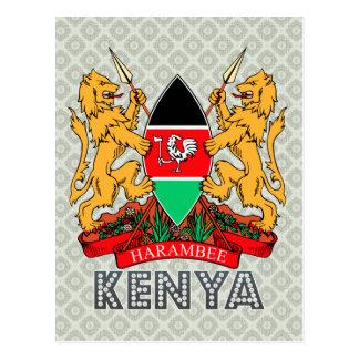 Escudo de armas de Kenia Tarjeta Postal