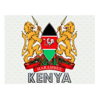 Escudo de armas de Kenia Tarjetas Postales