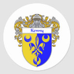 Escudo de armas de Kenny (cubierto) Pegatina Redonda