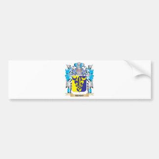 Escudo de armas de Kenny - escudo de la familia Pegatina De Parachoque