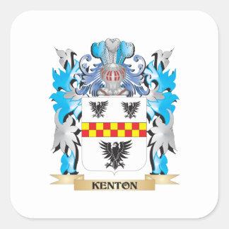 Escudo de armas de Kenton - escudo de la familia Pegatinas Cuadradas
