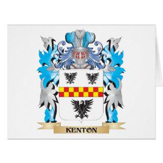 Escudo de armas de Kenton - escudo de la familia Tarjeta