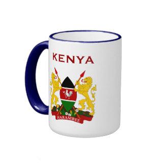 Escudo de armas de KENYA* y taza de la bandera