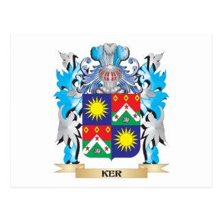 Escudo de armas de Ker- - escudo de la familia Postal