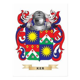 Escudo de armas de Ker- (Lothian) (escudo de la Tarjeta Postal