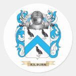 Escudo de armas de Kilburn (escudo de la familia) Pegatinas Redondas