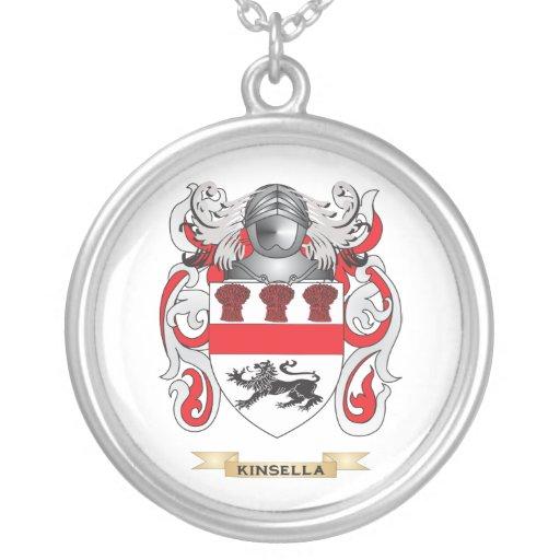 Escudo de armas de Kinsella (escudo de la familia) Colgante Redondo