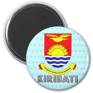 Escudo de armas de Kiribati Imán Redondo 5 Cm