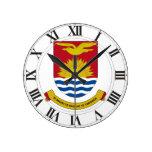 Escudo de armas de Kiribati Reloj De Pared