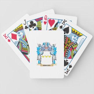 Escudo de armas de Kirkeby - escudo de la familia Baraja Cartas De Poker