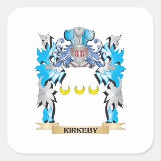 Escudo de armas de Kirkeby - escudo de la familia Calcomanía Cuadradase