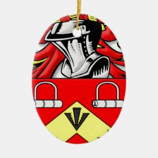 Escudo de armas de Kirkwood Adorno Navideño Ovalado De Cerámica