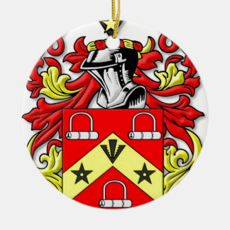 Escudo de armas de Kirkwood Adorno Navideño Redondo De Cerámica