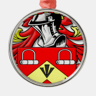 Escudo de armas de Kirkwood Adorno Navideño Redondo De Metal