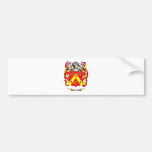 Escudo de armas de Kirkwood (escudo de la familia) Pegatina Para Auto